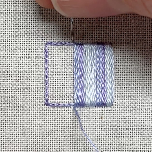 Satin stitch method stage 4 photograph