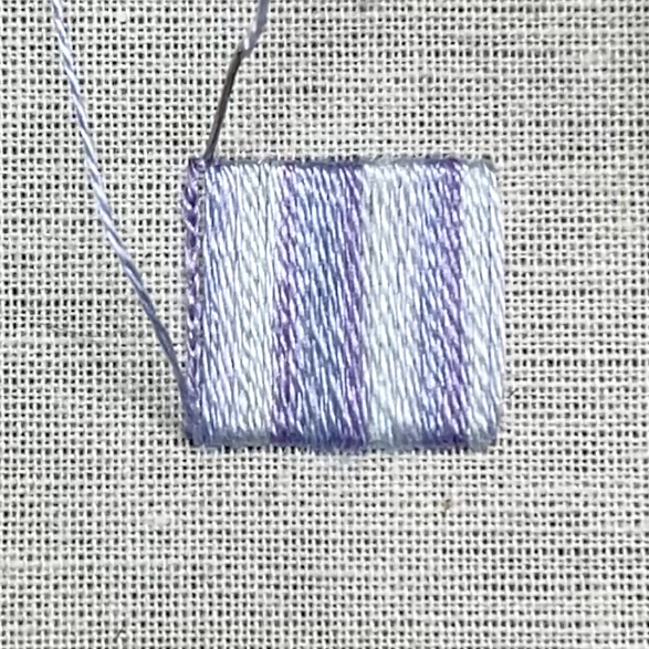 Satin stitch method stage 5 photograph