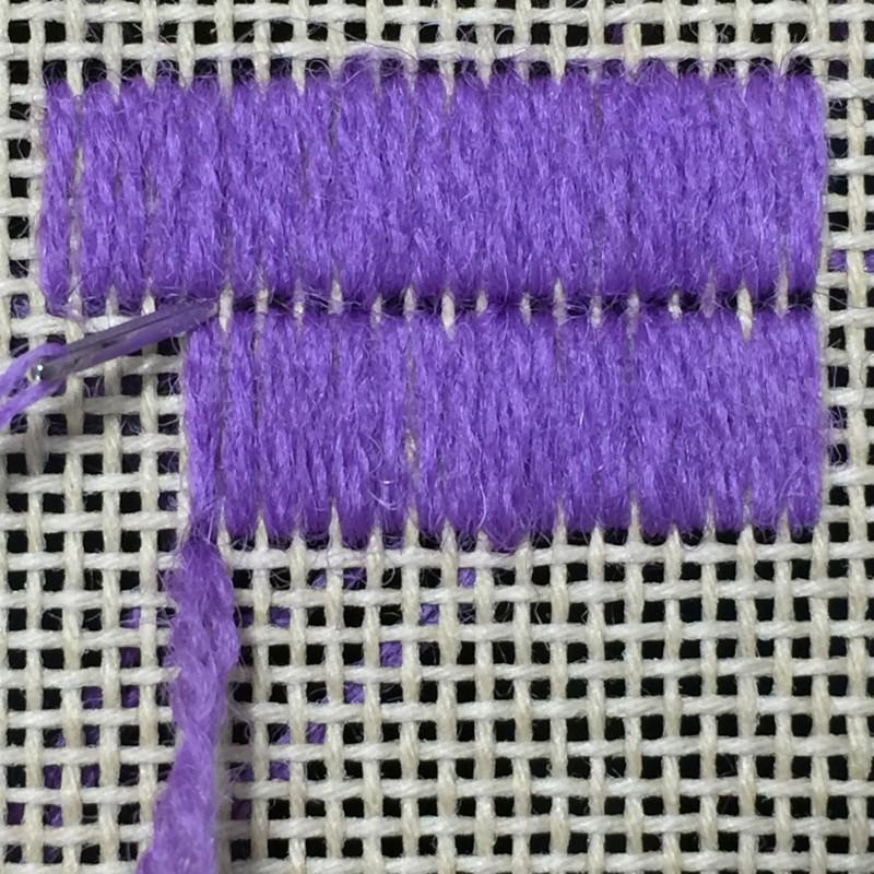 Shell stitch method stage 3 photograph