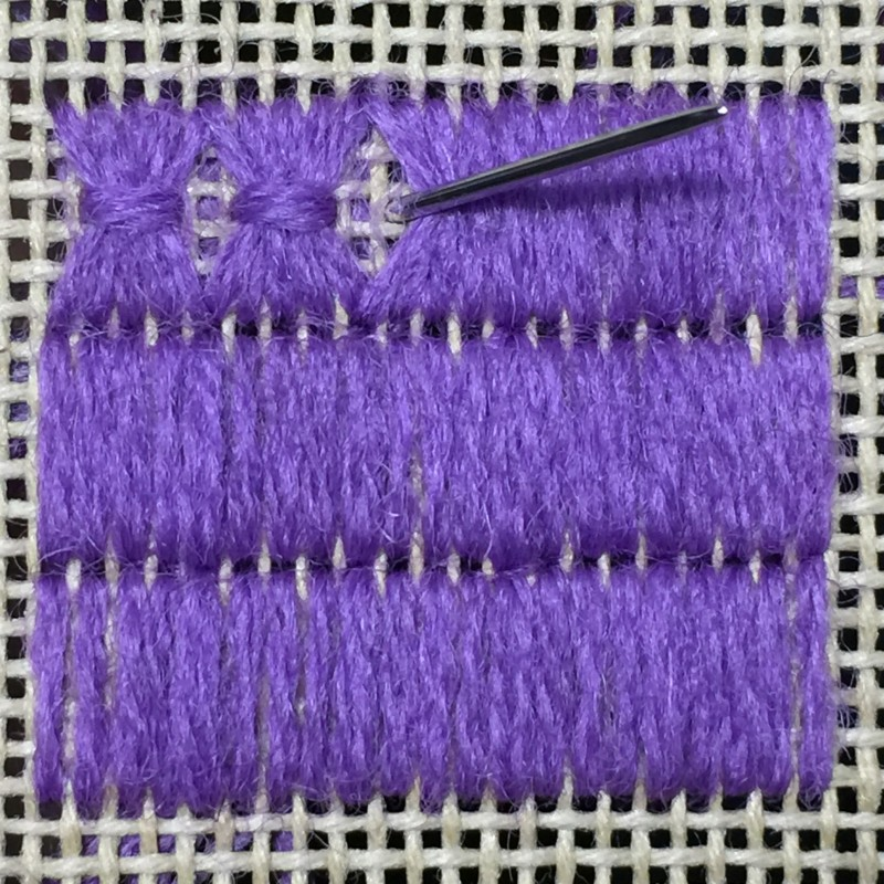 Shell stitch method stage 4 photograph