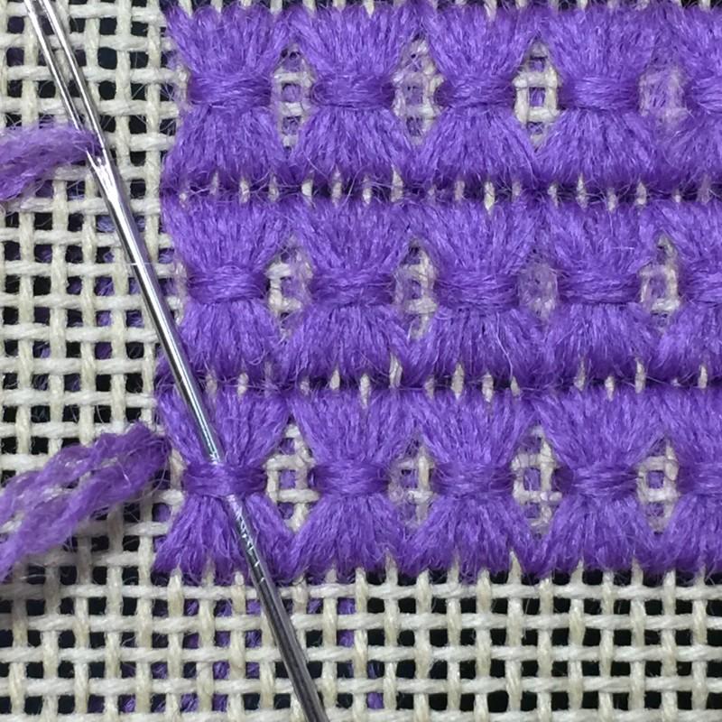 Shell stitch method stage 5 photograph