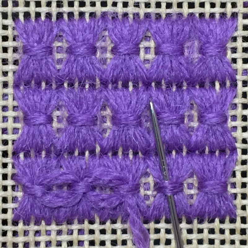 Shell stitch method stage 9 photograph