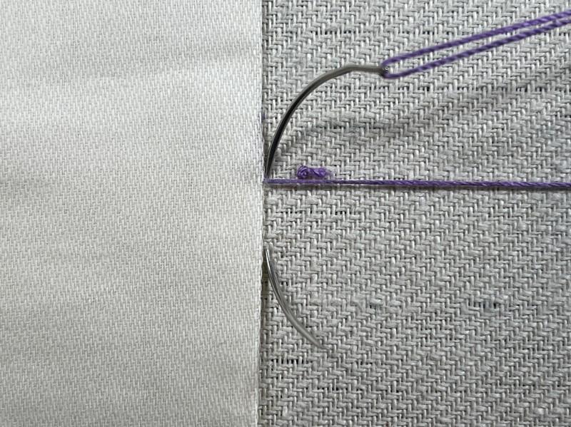 Slip stitch method stage 7 photograph