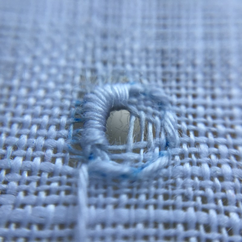 Small eyelet method stage 4 photograph