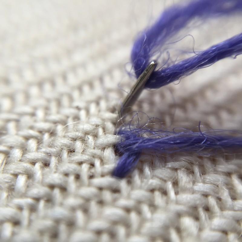 Stem stitch method stage 6 photograph