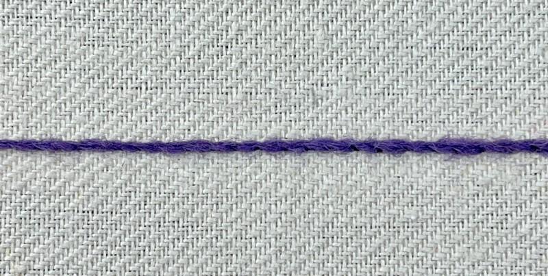 Stem stitch method stage 9 photograph