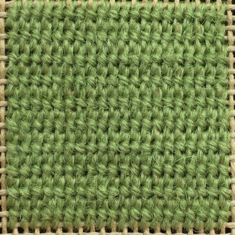 Tied Gobelin stitch method stage 4 photograph