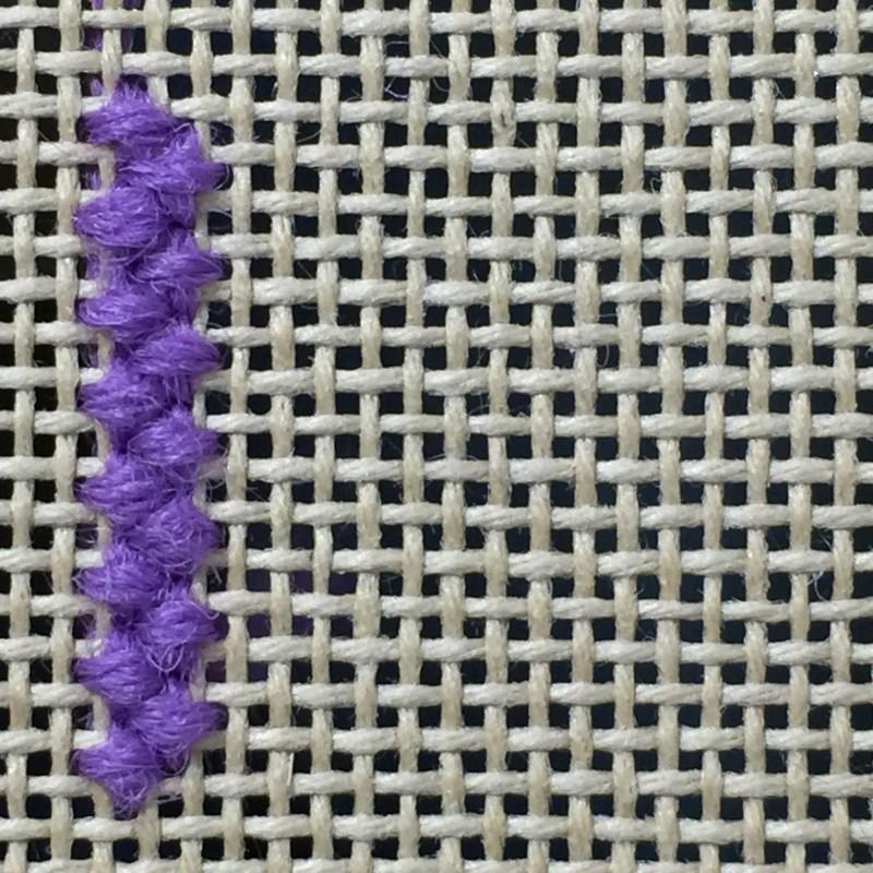 Upright cross stitch method stage 3 photograph