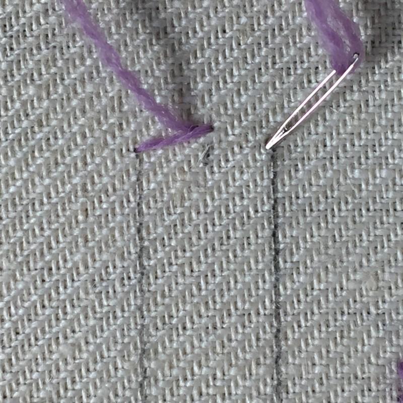 Van Dyke stitch method stage 3 photograph