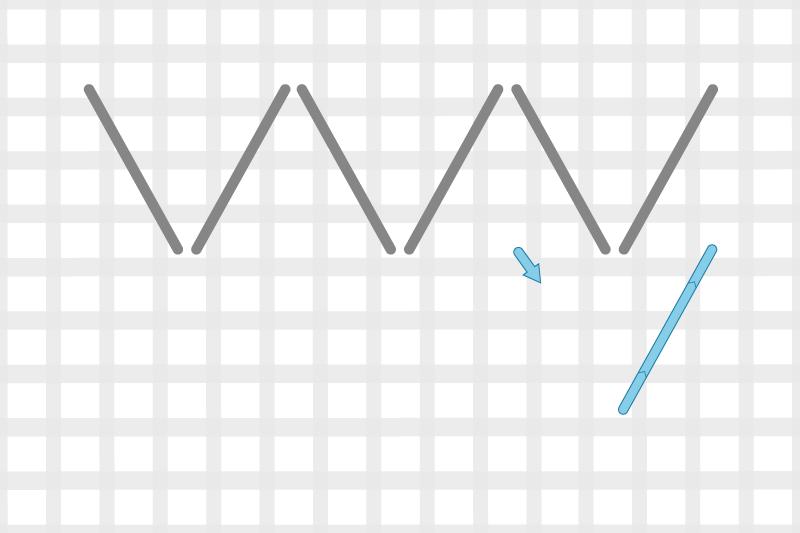 Arrowhead stitch method stage 4 illustration