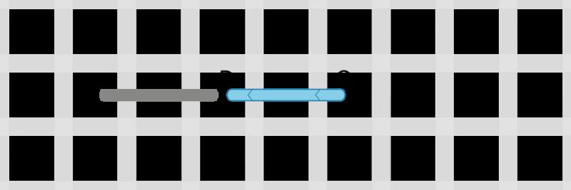 Back stitch method stage 2 illustration