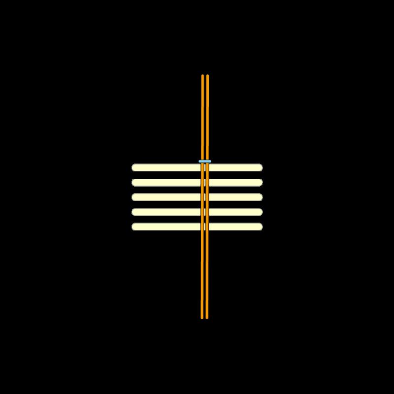Basketweave (goldwork) method stage 2 illustration