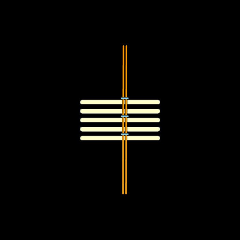 Basketweave (goldwork) method stage 4 illustration