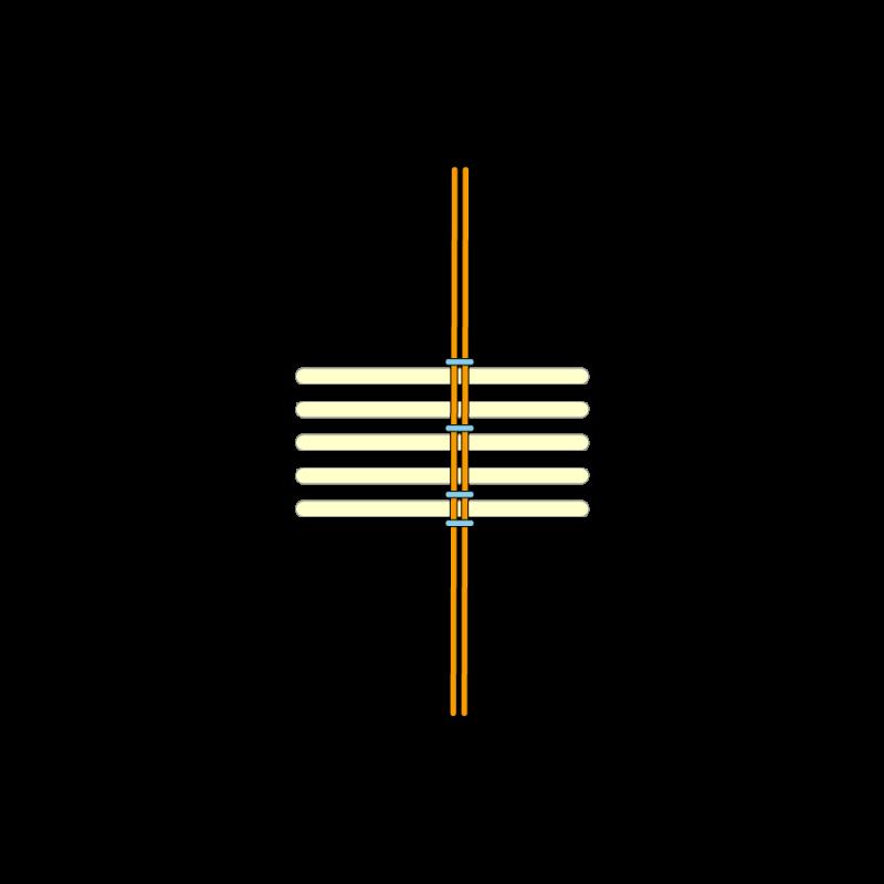 Basketweave (goldwork) method stage 5 illustration
