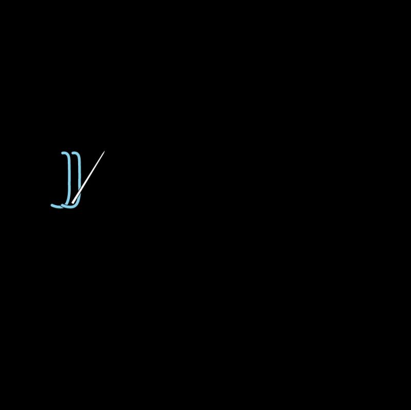 Buttonhole stitch method stage 6 illustration