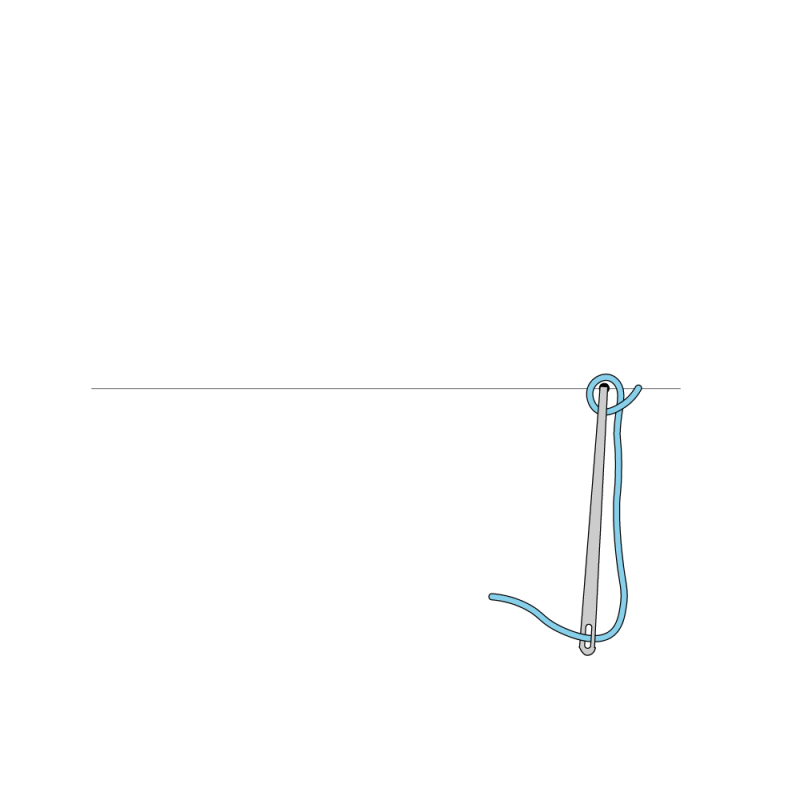 Cable chain stitch method stage 2 illustration