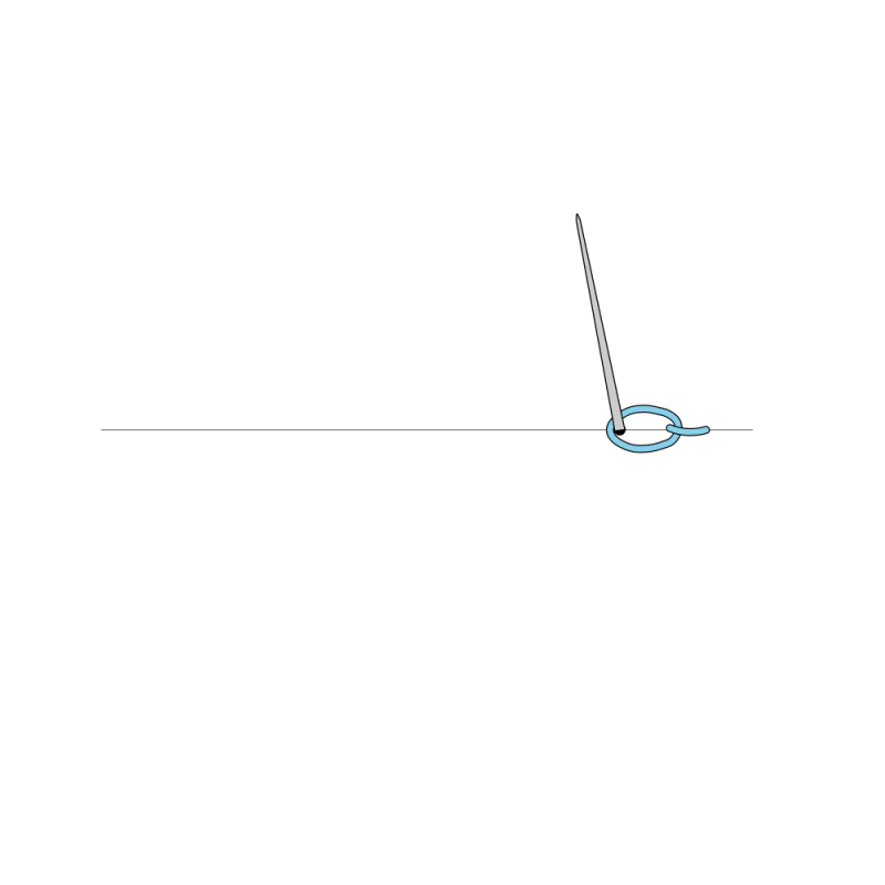 Cable chain stitch method stage 4 illustration