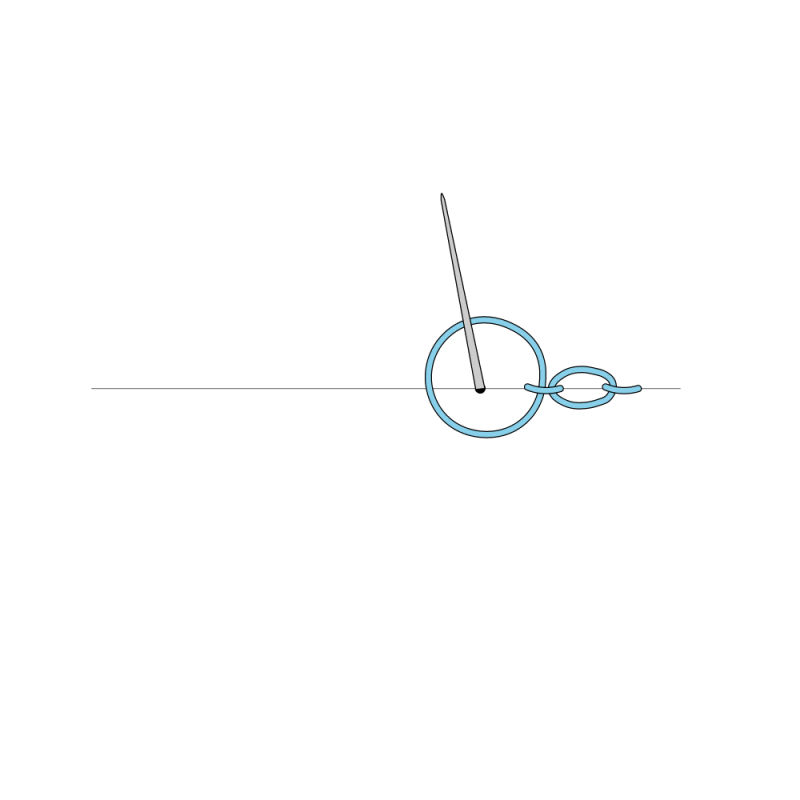 Cable chain stitch method stage 5 illustration