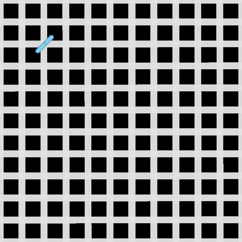 Chequer stitch method stage 1 illustration