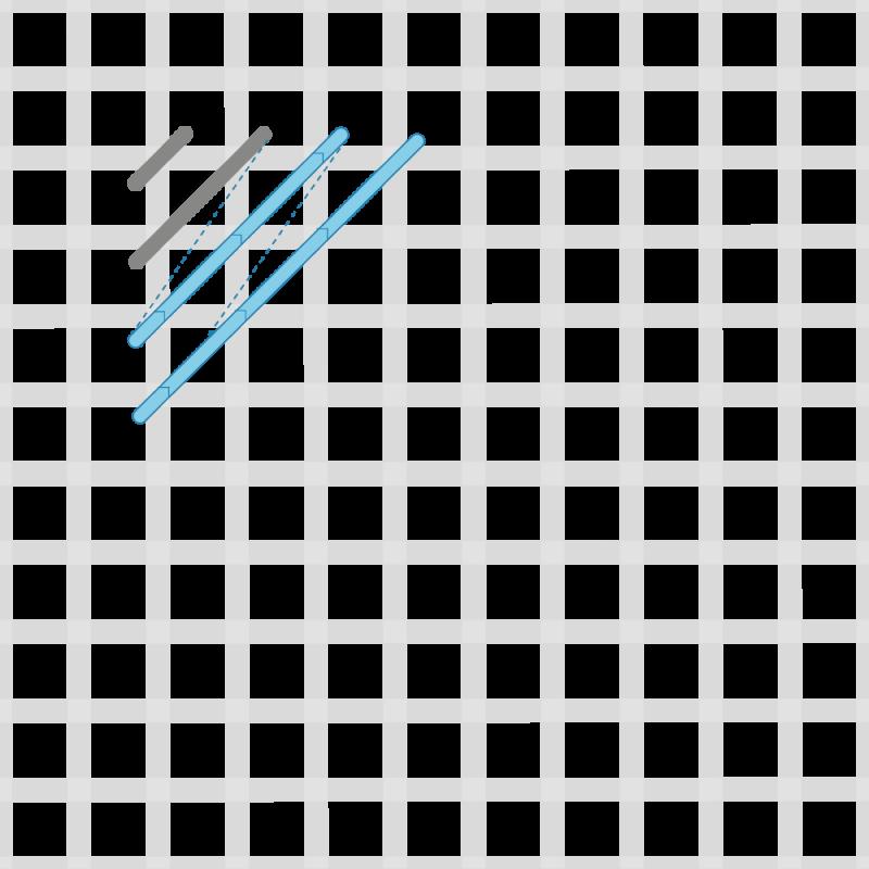 Chequer stitch method stage 3 illustration