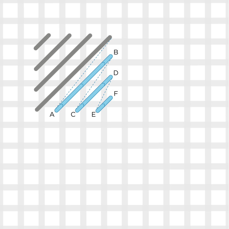 Chequer stitch method stage 4 illustration