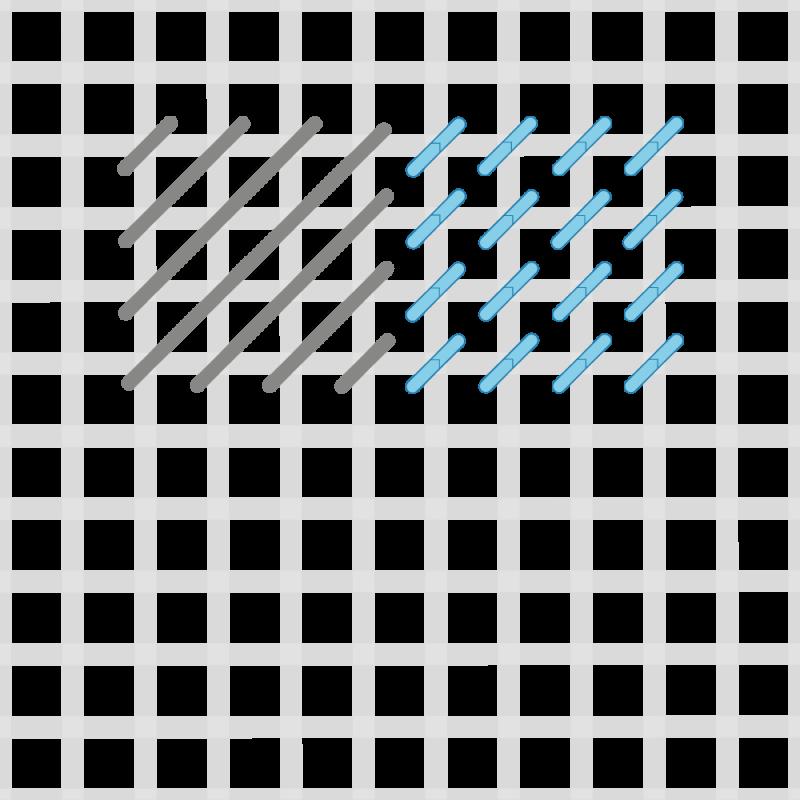 Chequer stitch method stage 5 illustration