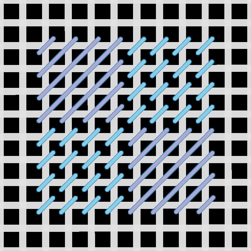 Chequer stitch method stage 6 illustration