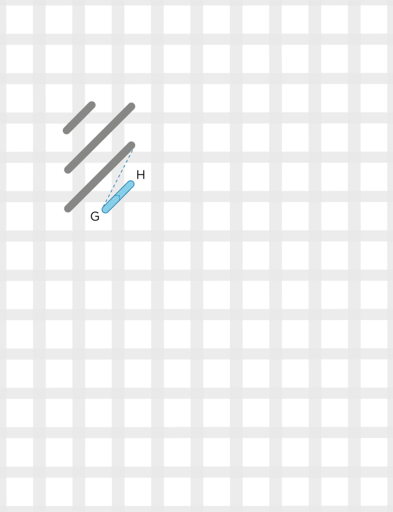 Diagonal cashmere stitch method stage 4 illustration