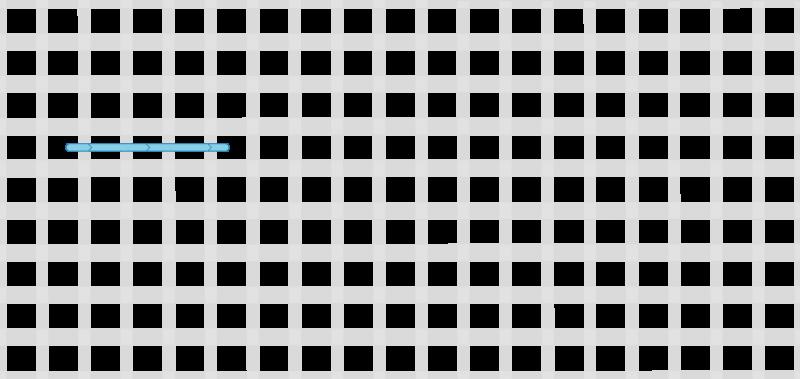 Double straight cross stitch method stage 1 illustration