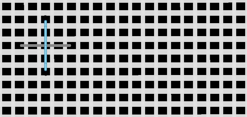 Double straight cross stitch method stage 2 illustration