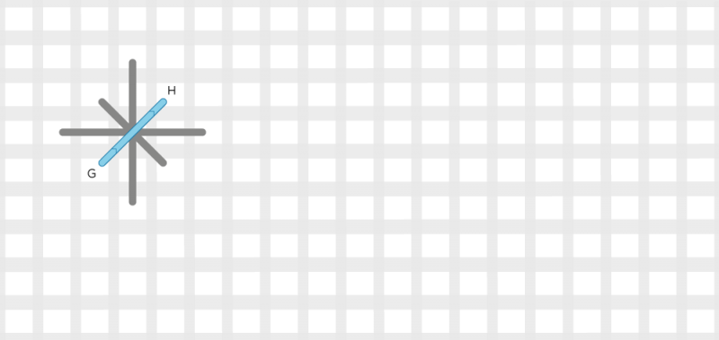 Double straight cross stitch method stage 4 illustration