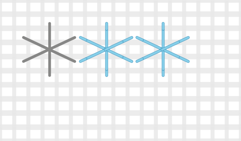 Dutch stitch method stage 4 illustration
