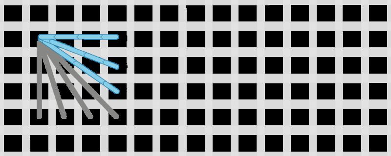 Fan stitch method stage 3 illustration