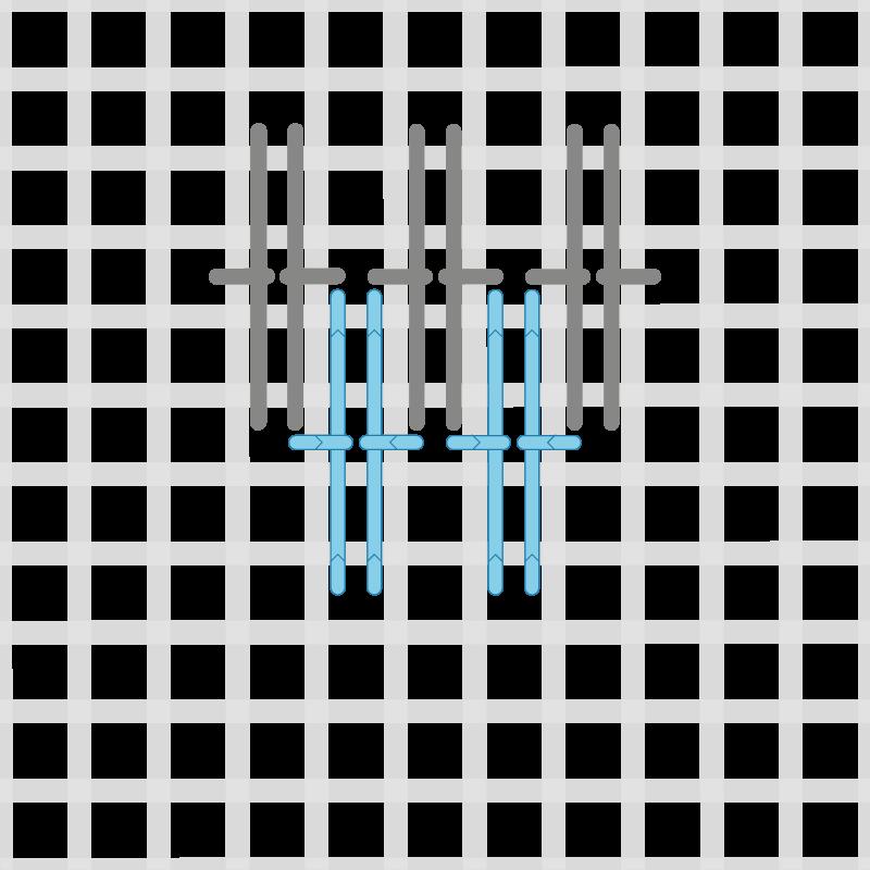 French stitch method stage 4 illustration