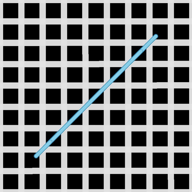 Half Rhodes stitch method stage 1 illustration