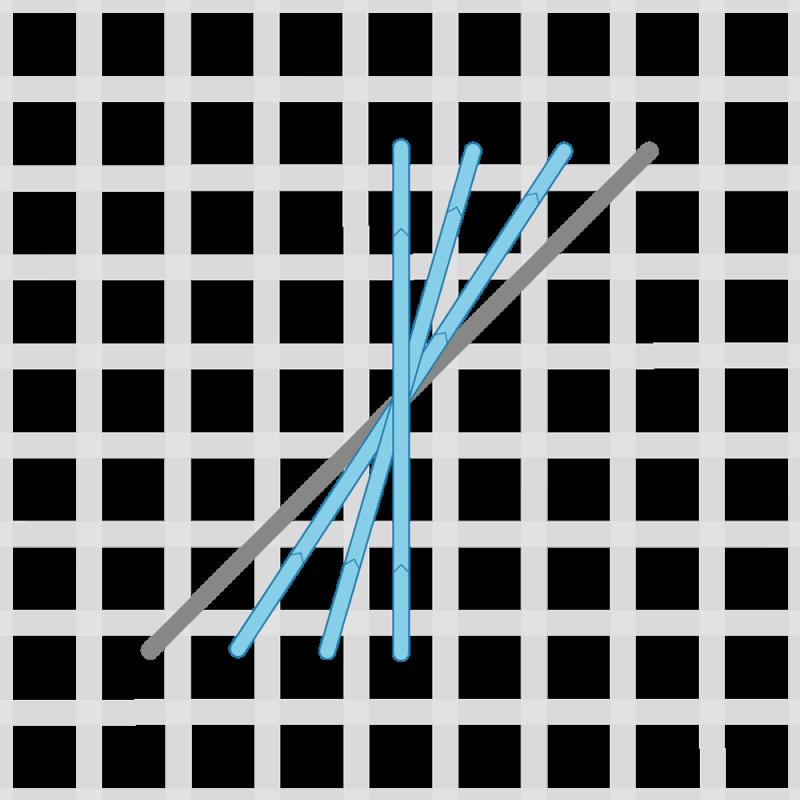 Half Rhodes stitch method stage 2 illustration