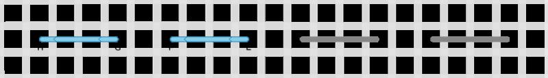 Running stitch method stage 3 illustration
