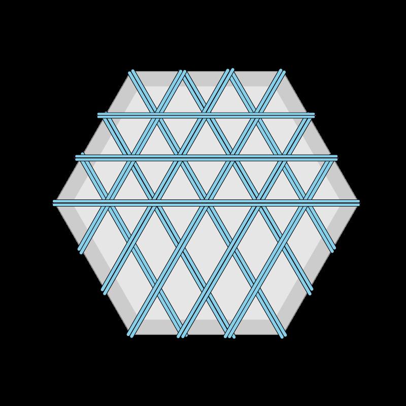 Carpet felt padding method stage 2 illustration