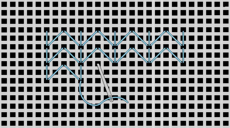 Chevron (pattern) method stage 5 illustration