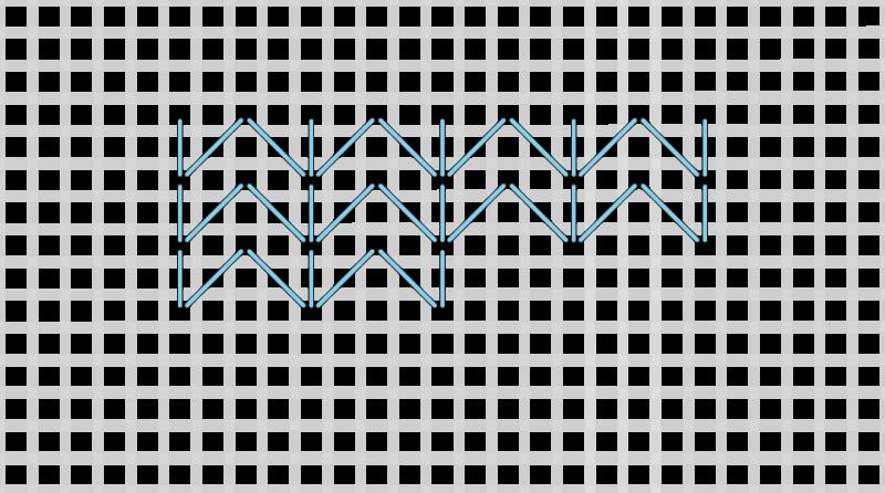 Chevron (pattern) method stage 6 illustration