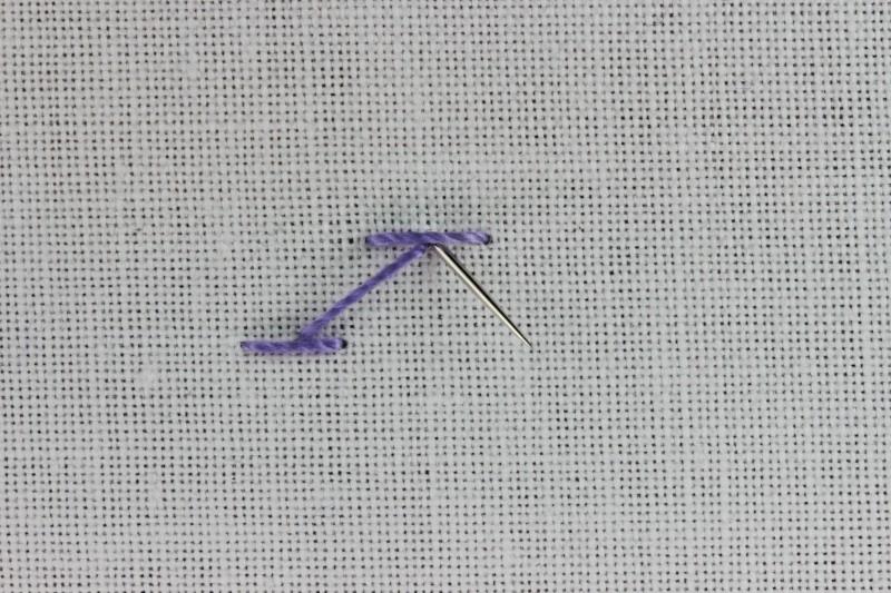 Chevron stitch method stage 4 photograph
