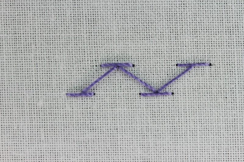 Chevron stitch method stage 5 photograph