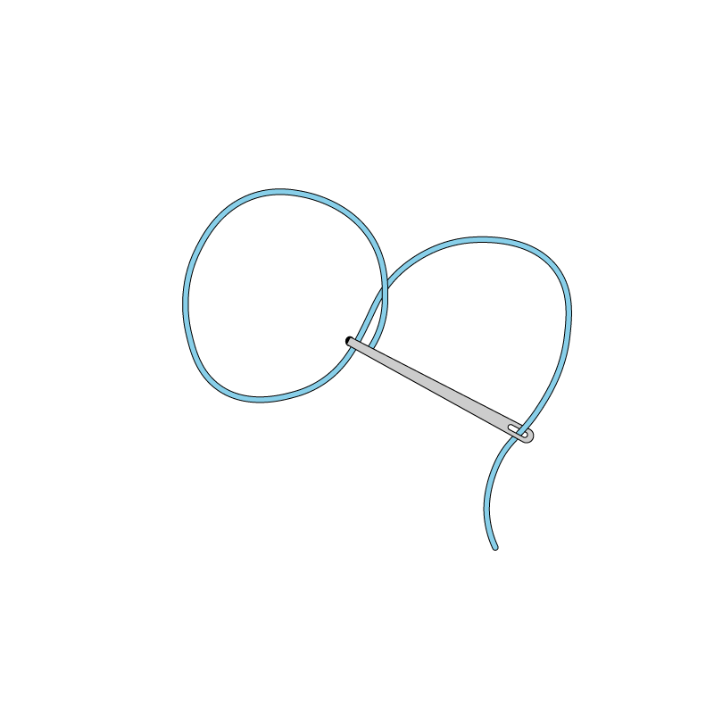 Chinese knot method stage 2 illustration