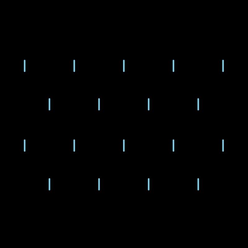 Cloud filling stitch method stage 1 illustration