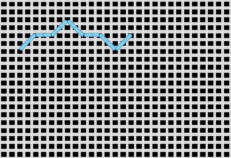 Compressed lace (pattern) method stage 1 illustration