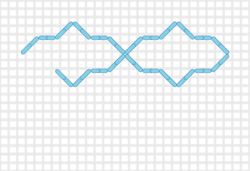 Compressed lace (pattern) method stage 2 illustration