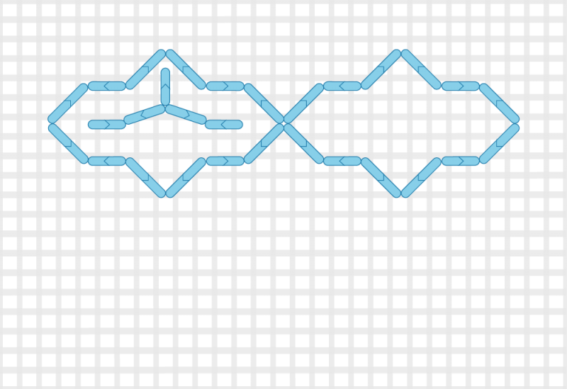 Compressed lace (pattern) method stage 3 illustration
