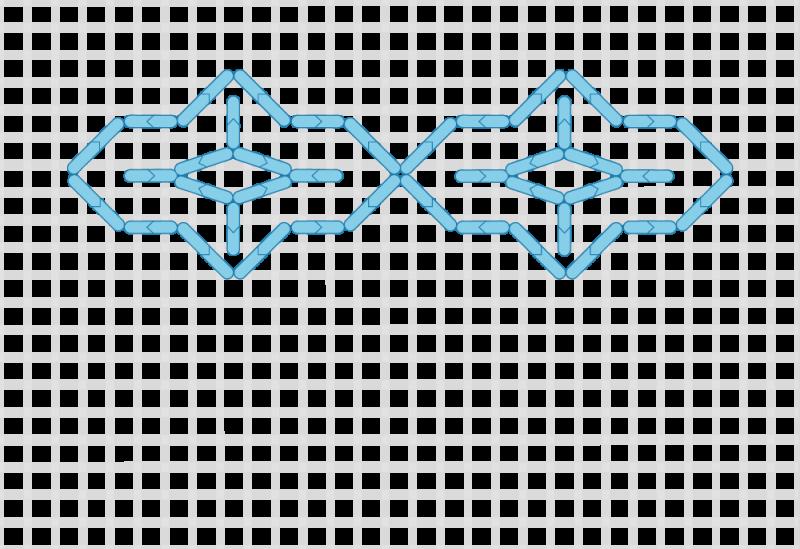 Compressed lace (pattern) method stage 4 illustration