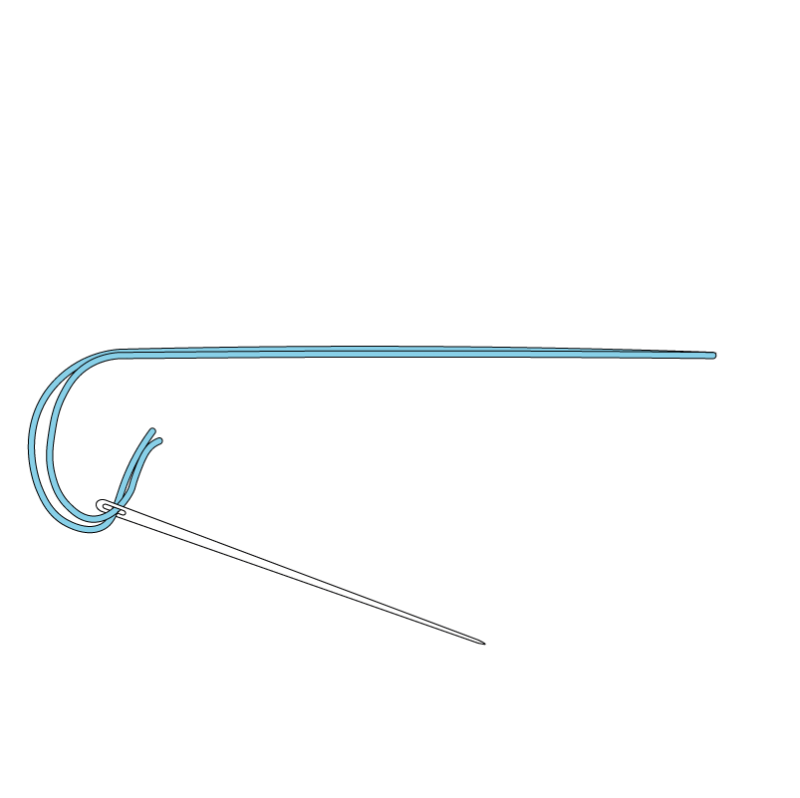 Couching method stage 2 illustration