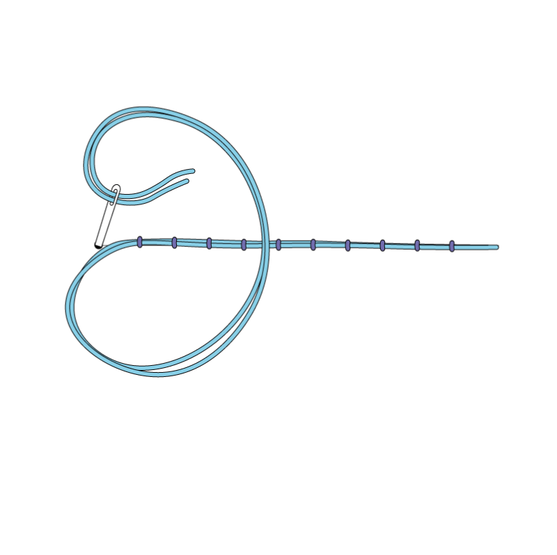 Couching method stage 6 illustration